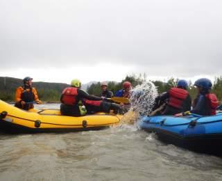 Having a splash at BYTE River Camp