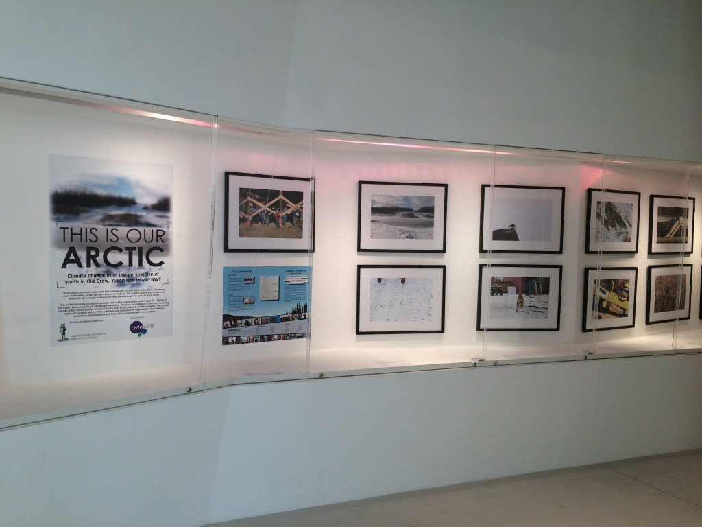 This Is Our Arctic photographs on display at the Toronto Museum of Inuit Art