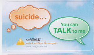 safeTALK training to help build suicide-safer communities